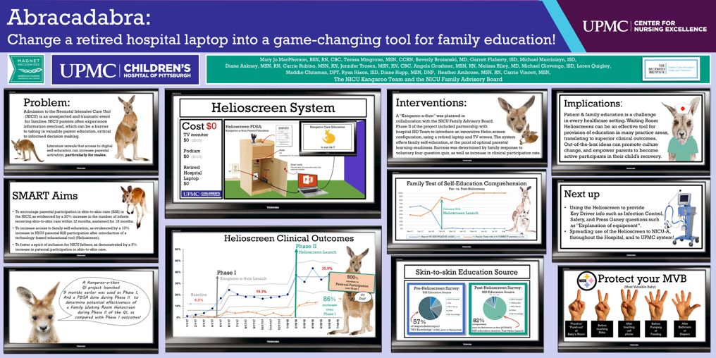 Nursing Research: Second Place: Abracadabra: Change a Retired Hospital Laptop Into a Game-changing Tool for Family Education